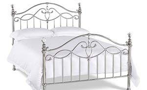 Bentley Desings Elena Shiny Nickel Bed Frame