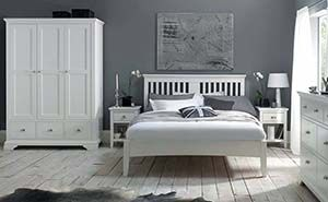 Bentley Designs Hampstead Low Footend White Bed Frame