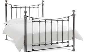 Bentley Desings Isabelle Antique Nickel Bed Frame