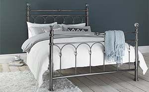 Bentley Desings Krystal Antique Nickel Bed Frame